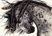 Pinto Horse Paintings - Majestic Mustang 34 by AmyLyn Bihrle