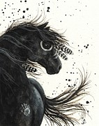 War Paint Prints - Majestic Mustang #38 Print by AmyLyn Bihrle