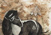 Native American Paintings - Majestic Mustang #52 by AmyLyn Bihrle