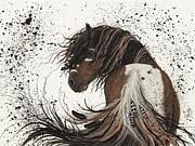 Majestic Mustang 57 Print by AmyLyn Bihrle