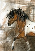 Pinto Horse Paintings - Majestic Series 79 by AmyLyn Bihrle