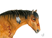 Wild Horses Painting Prints - Majestic Series 82 Print by AmyLyn Bihrle