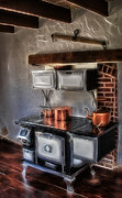 Teakettle Framed Prints - Majestic Stove Framed Print by Susan Candelario