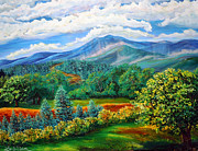 Impasto Paintings - Majestic View of the Blue Ridge by Lee Nixon