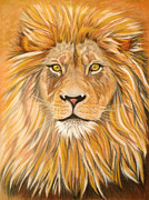Golden Brown Pastels Prints - Majestic Print by Yvonne Johnstone
