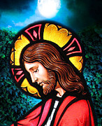 Framed Jesus Posters Framed Prints - Majesty 2 Framed Print by Karen Showell