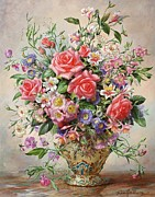 Flora Painting Prints - Majesty Print by Albert Williams