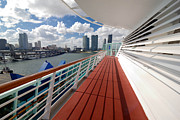 Line Framed Prints - Majesty of the Seas at Port of Miami Framed Print by Amy Cicconi