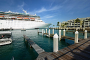 Caribbean Art - Majesty of the Seas docked at Key West Florida by Amy Cicconi
