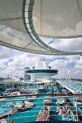 Cruising Posters - Majesty of the Seas Pool  Poster by Amy Cicconi