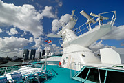 Antenna Metal Prints - Majesty of the Seas Upper Deck Satellite Equipment Metal Print by Amy Cicconi