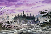 Watercolor Artist Prints - Majesty of the Shore Print by James Williamson