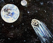 Planet System Paintings - Make a Wish by Shana Rowe