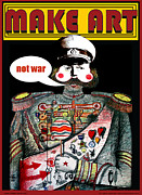 Anti-war Framed Prints - Make Art Not Art Framed Print by Larry Butterworth