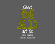 Typographic At Prints - Make It Happen Print by Brandon Addis