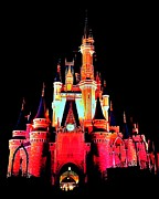 Cinderellas Castle Prints - Make It Pink Print by Benjamin Yeager