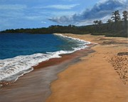 Gallary Posters - Makena Beach Poster by Gwendolyn Hope-Battley