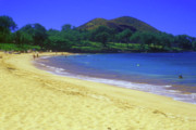 Makena Acrylic Prints - Makena Beach Maui Hawaii Acrylic Print by John Burk