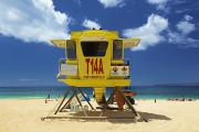 Big Beach Posters - Makena Lifeguard Stand Poster by Kicka Witte