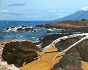 Gallary Posters - Makena Rocks Poster by Gwendolyn Hope-Battley