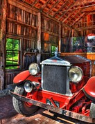 Old Trucks Framed Prints - Makers Mark Firehouse 2 Framed Print by Mel Steinhauer