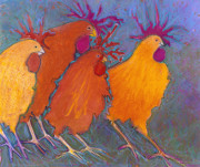 Fun Pastels Prints - Making a Break for it Print by Jane Wilcoxson