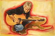 Guitars Paintings - Making music by Sheila Diemert