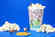 Print Card Digital Art Framed Prints - Making popcorn Framed Print by Paul Ge