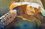 Reptile Paintings - Making Tracks by Kris Parins