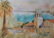 Impressionisttic Paintings - Malaga Cove by Dodie Davis