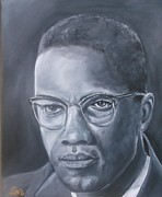 Malcolm X Painting Prints - Malcolm Print by Joseph Love