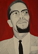 Malcolm X Painting Prints - Malcolm X Print by Lakeisha Phillips