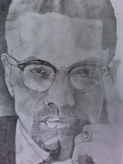 Malcolm X Prints - Malcolm X Print by Renee Rice