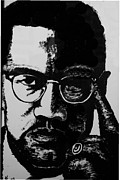Malcom X Framed Prints - Malcom X Framed Print by Karen Buford
