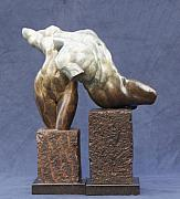 Nudes Sculptures - Male and Female Torso Fragements by Karl Sanders