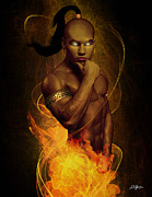 Djinn Framed Prints - Male Ifrit Djinn Framed Print by Dominic Gomes