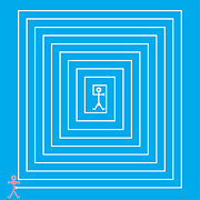Cyan Prints - Male Maze Icon Print by Thisisnotme