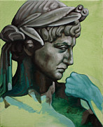 Classical Sculpture Posters - Male Study of Rossio Fountain Poster by Kathleen English-Barrett