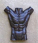 Figurative Reliefs - Male Torso Wall Fragment by Karl Sanders