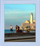Malecon Prints - Malecon habanero Print by Guillermo Bello