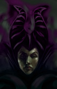 "\""once Upon A Time\\\"" Digital Art - Maleficent by Barry Sachs"