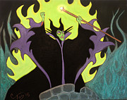 Disney Paintings - Maleficent by Casey Tovey