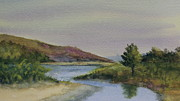 Malibu Lagoon Paintings - Malibu Lagoon Springtime by Jan Cipolla