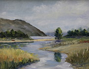 Malibu Painting Prints - Malibu Lagoon Winter Print by Jan Cipolla