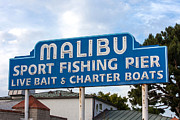 Art Block Collections - Malibu Pier Sign