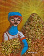 Rice Field Paintings - Maligayang Ani II by Paul Hilario