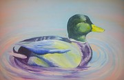 Teen Painting Originals - Mallard Morning by Sierra Day