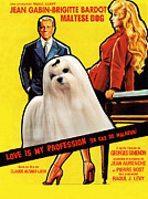 Maltese Dog Posters - Maltese Art - Love Is My Profession Movie Poster Poster by Sandra Sij
