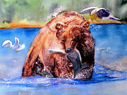 Kodiak Painting Originals - Mama Bear by Lynne Atwood