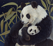 Panda Bear Paintings - Mama Mama by Laura Regan